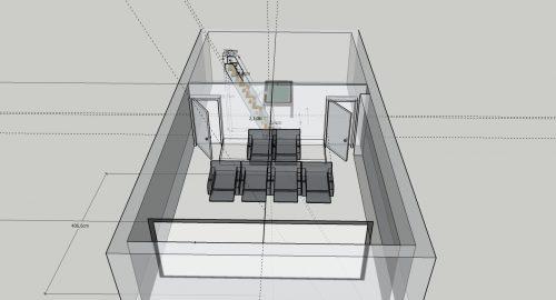 3D salle de cinéma